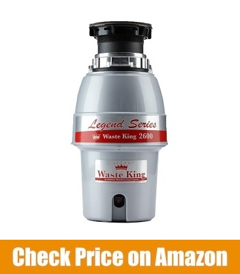 WASTE KING LEGEND SERIES 1/2 HP CONTINUOUS FEED GARBAGE DISPOSAL